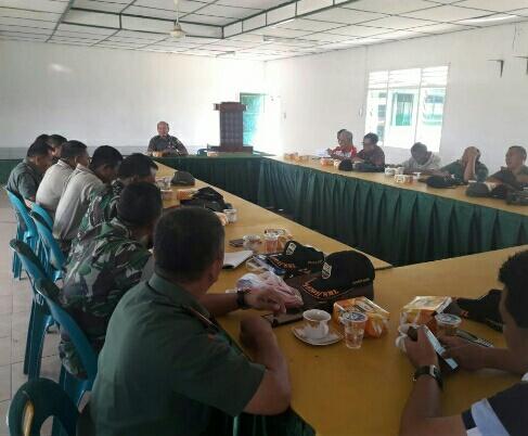 Kasdim 0207/Simalungun Pimpin Rapat Perdana Jelang Penutupan TMMD KE-102