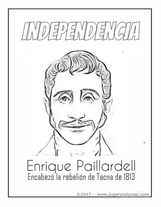 Colorear Dibujos Independencia De Perú