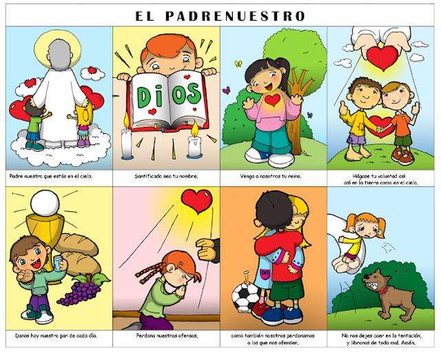 Resultado de imagen de dibujos del Padrenuestro