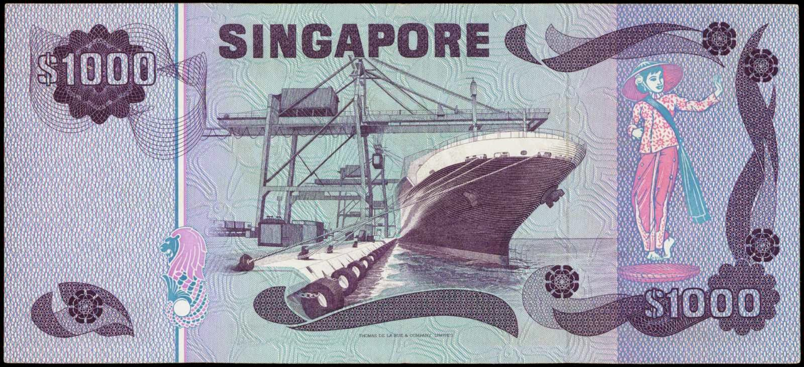 Singapore 1000 Dollar note Bird Series