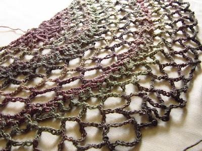 Red Heart, Boutique Unforgettable, yarn, multicolored, shawl, crochet