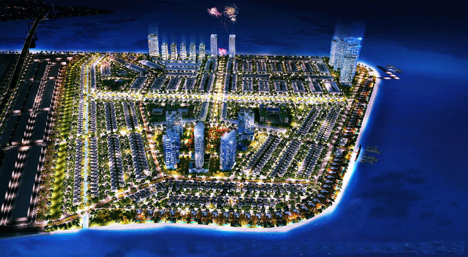 Tổng thể dự án khu đô thị mới Vịnh Thuận Phước