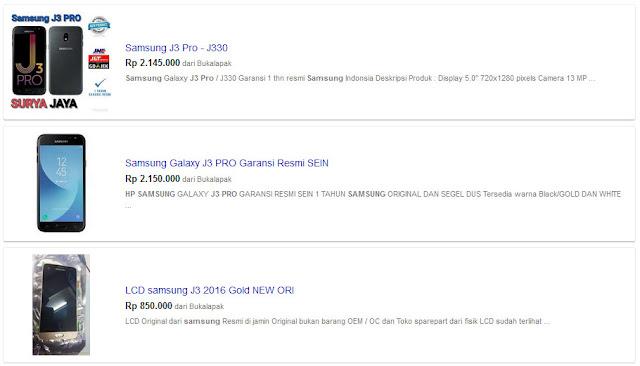 Harga Samsung J3 Pro di Bandung