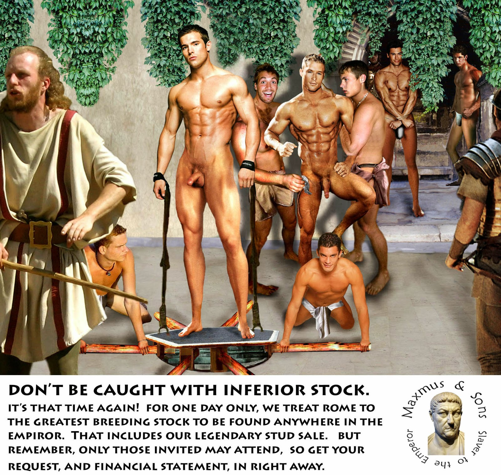 naked male slaves auction
