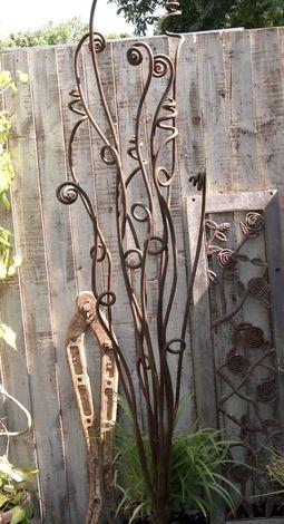 Wrought iron garden art a blog on garden - Wrought iron garden sculptures ...