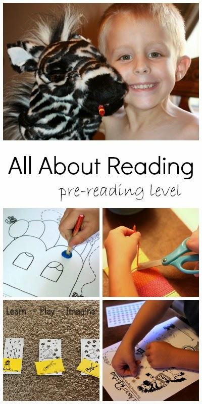 Hands on, multi-sensory preschool curriculum to build pre-reading skills