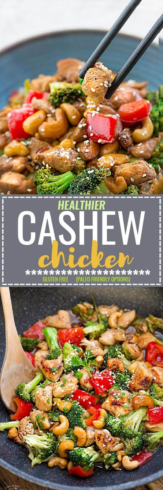 free skinny version of the pop classic Chinese takeout dish CASHEW CHICKEN (HEALTHY)