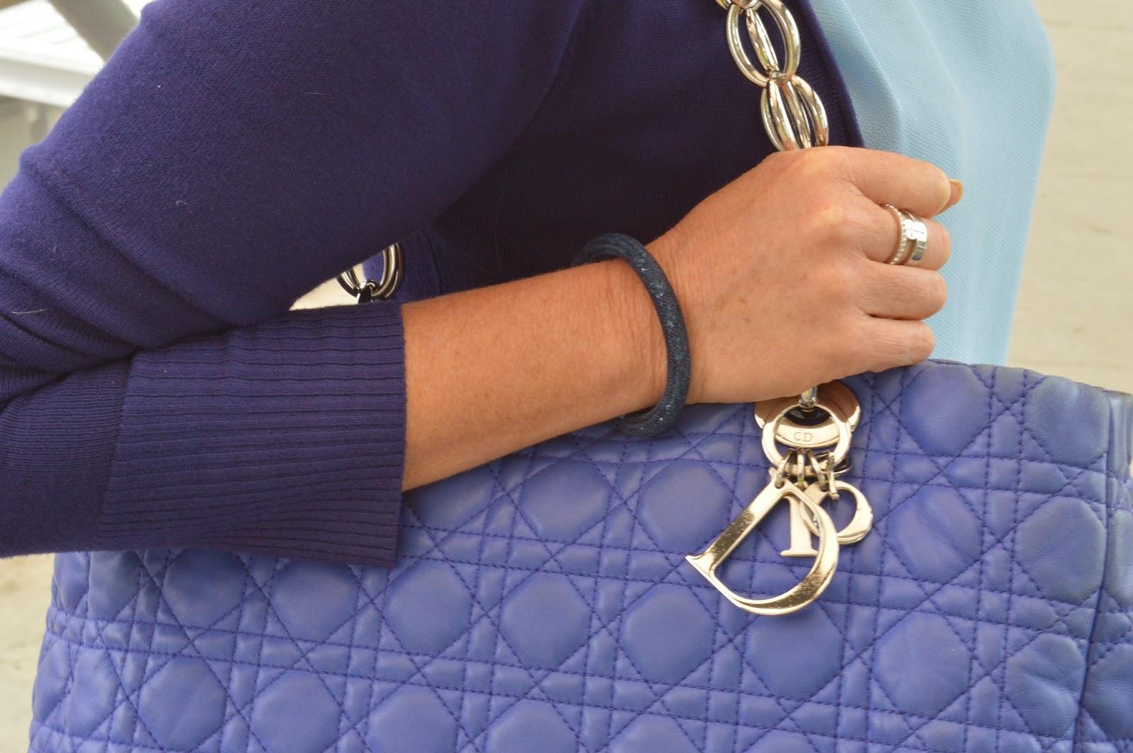Dior tote, Swarovski bracelet, Mimco ring