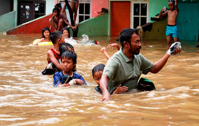 flooding in Jakarta, Indonesia