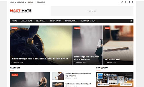 Free MagtiMate Blogger Template download