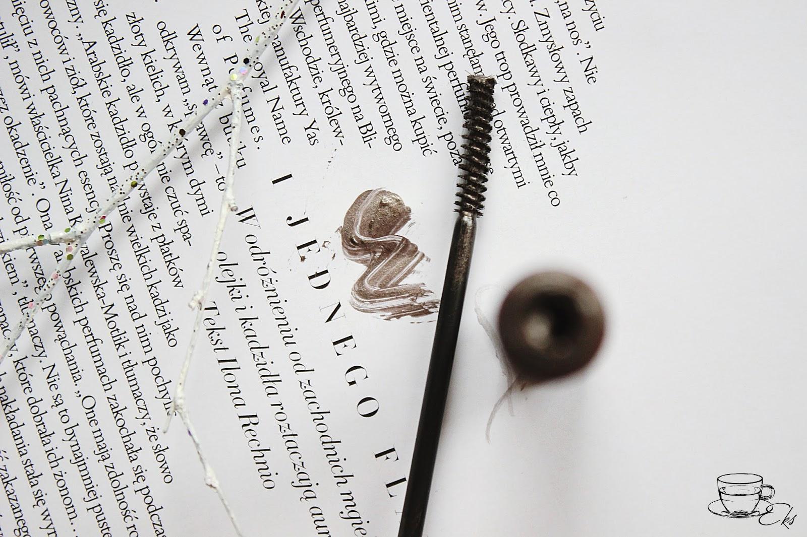 Żel stylizujący do brwi Wibo, róż Lovely, eyeliner Wibo