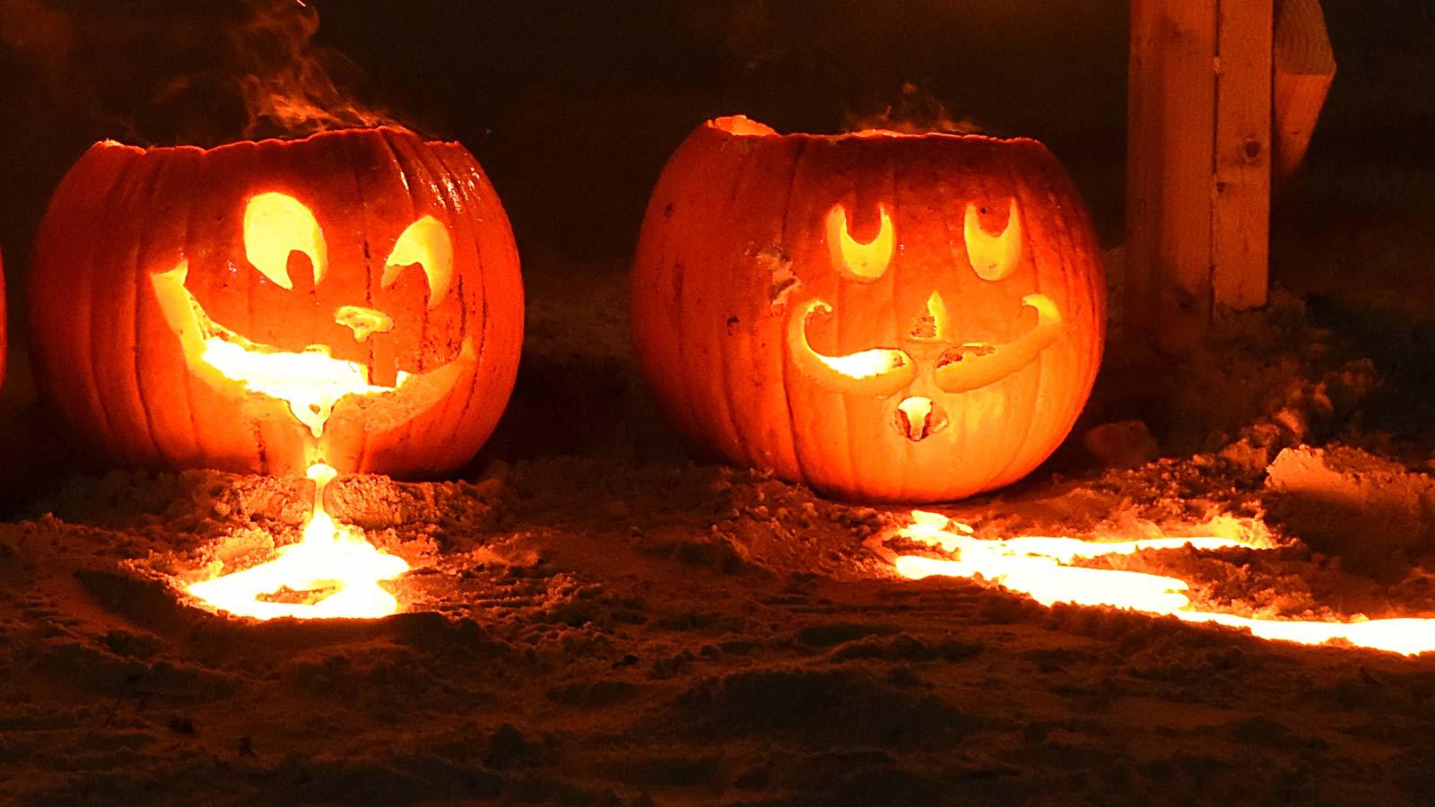 Halloween Pumpkin Pour UW Platteville