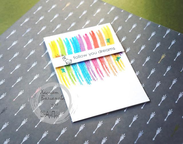 Мастер-класс, открытка, штампинг.