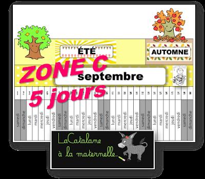 Poutre du temps 2018-2019 zone C 5 jours (LaCatalane)