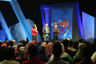 Merry Riana, Edvan M Kautsar dan Mc Danny dalam Acara I'm Possible Muda, Kaya, Bahagia, Bisa?