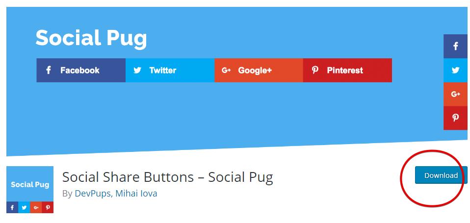 Plugin Social Pug