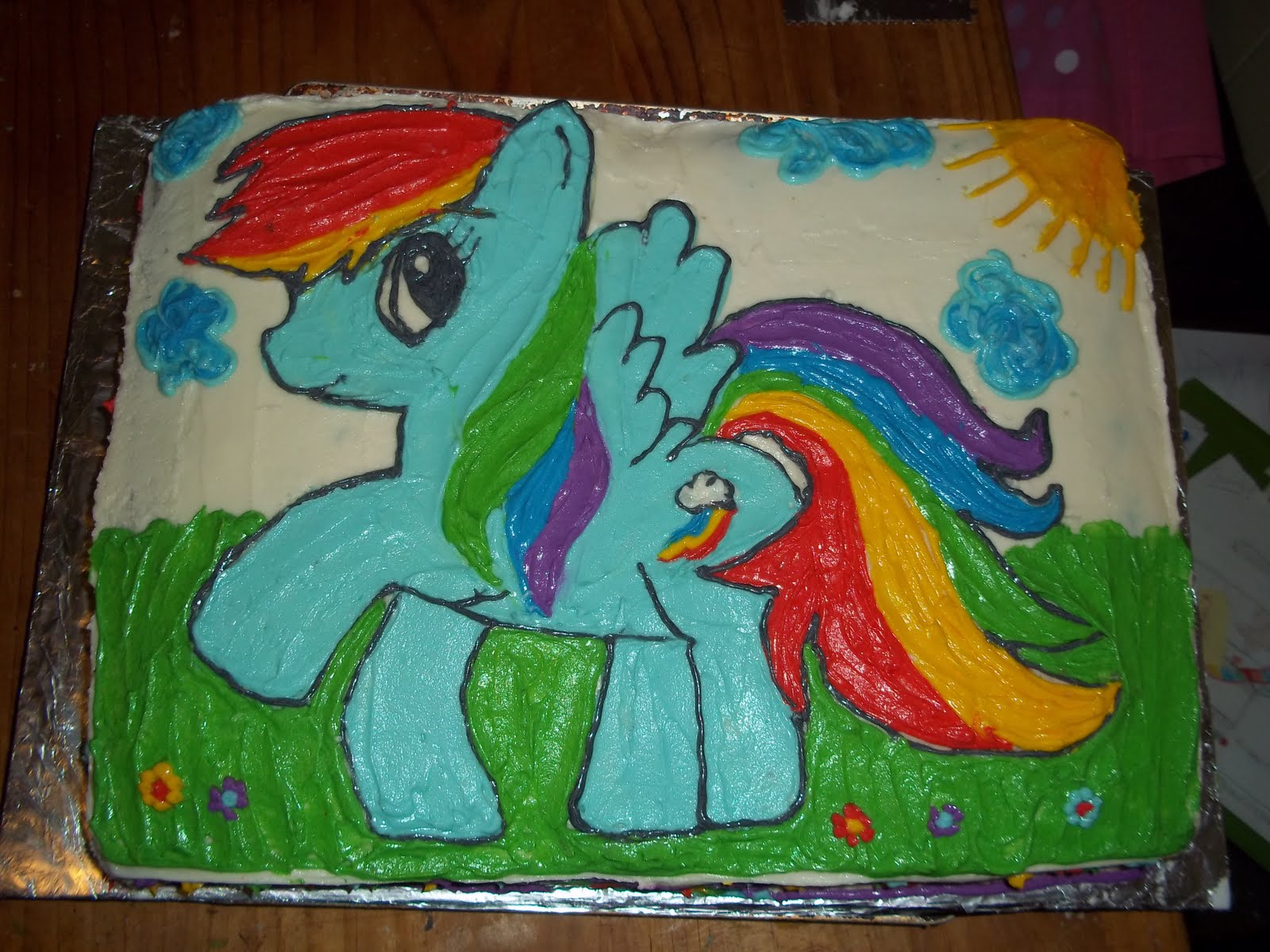 rainbow dash cake template - sweet treats by cc rainbow dash