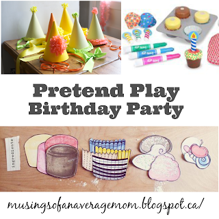 pretend play birthday party