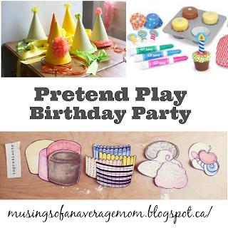 pretend play birthday party