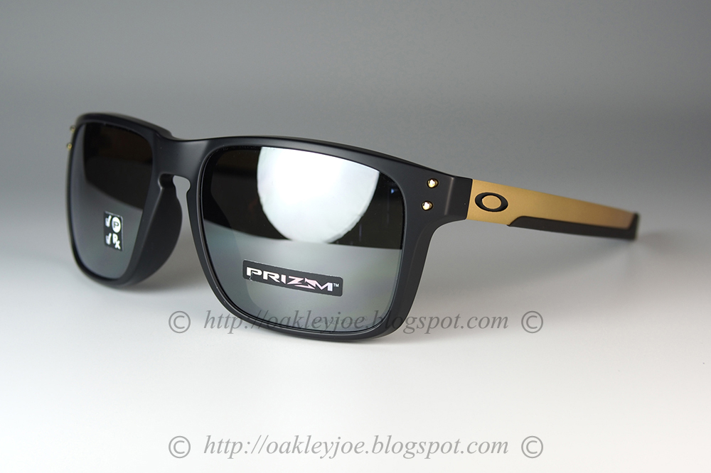 6e7724e79ad oo9385-0757 Holbrook Mix Asian Fit matte black gold + prizm black polarized   295 lens pre coated with Oakley hydrophobic nano solution