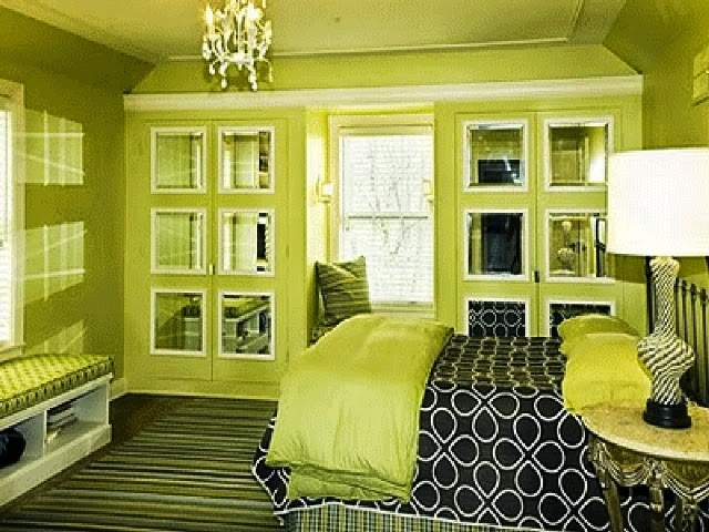 bedroom painting ideas green
