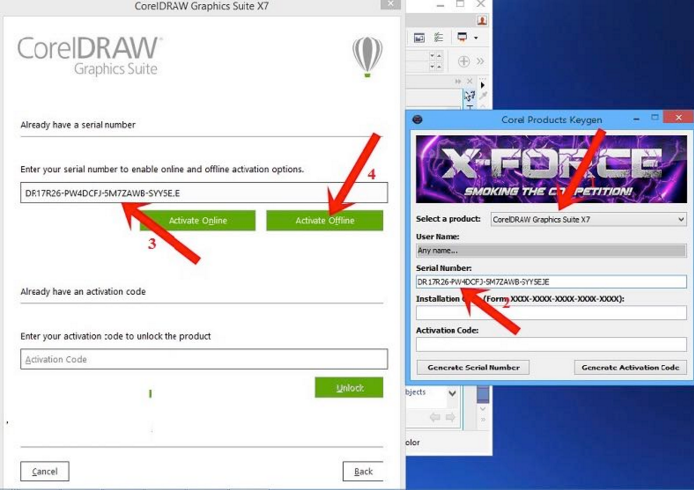 corel draw x5 serial number and activation code