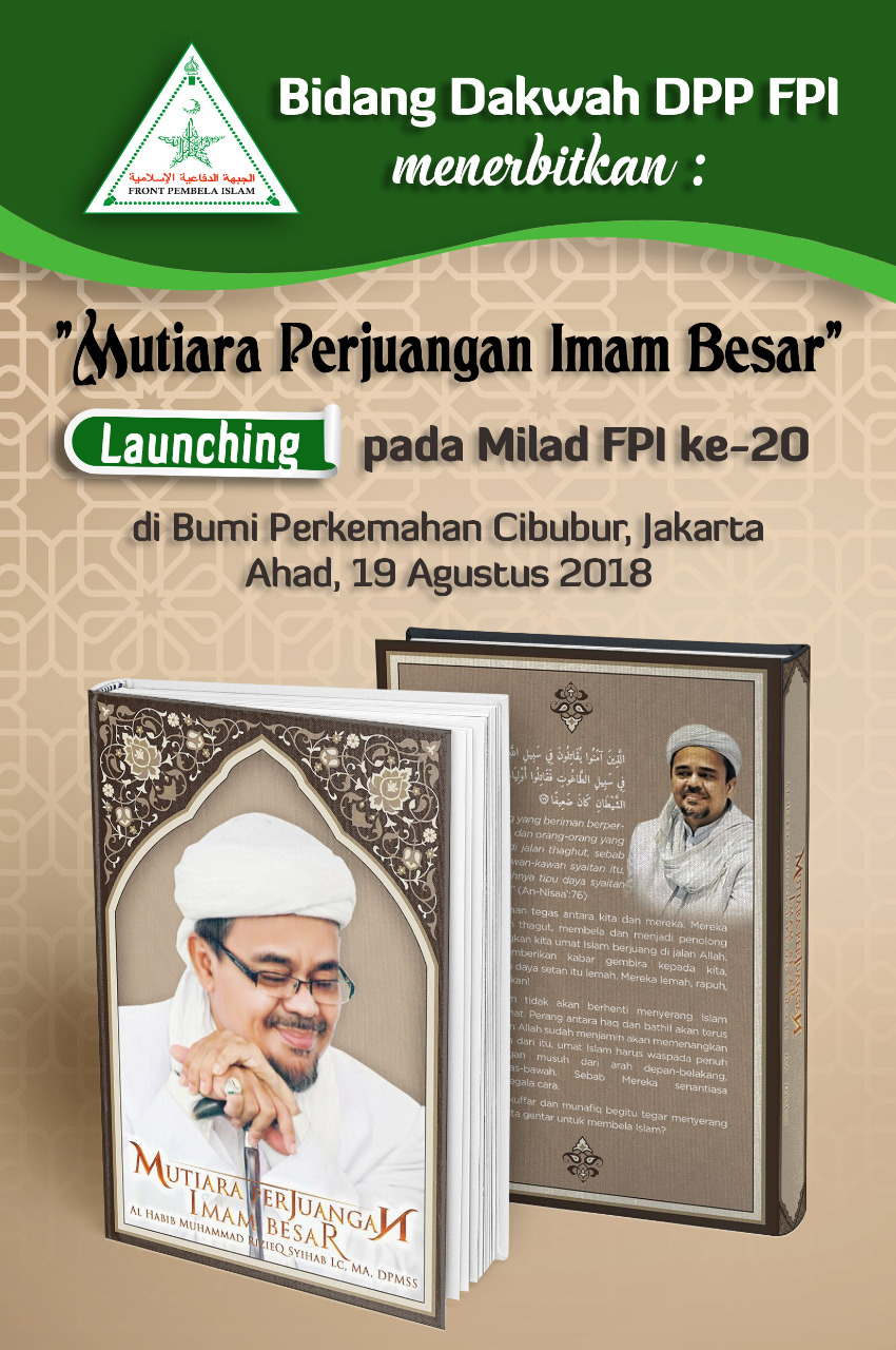 Buku Mutiara Perjuangan Imam Besar Mozaik Harokah Fpi