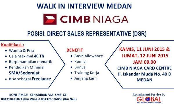 Lowongan Kerja CIMB Niaga Medan