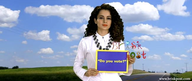 Kangana Ranaut asking for vote in Love Your Country song