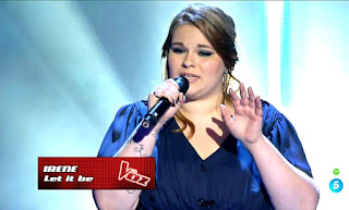 Irene Caruncho canta Let it be de Los Beatles. Semifinal La Voz