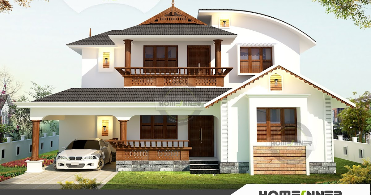 Kerala Style Duplex House Plans Traditional Home Design In 1709 Sqft