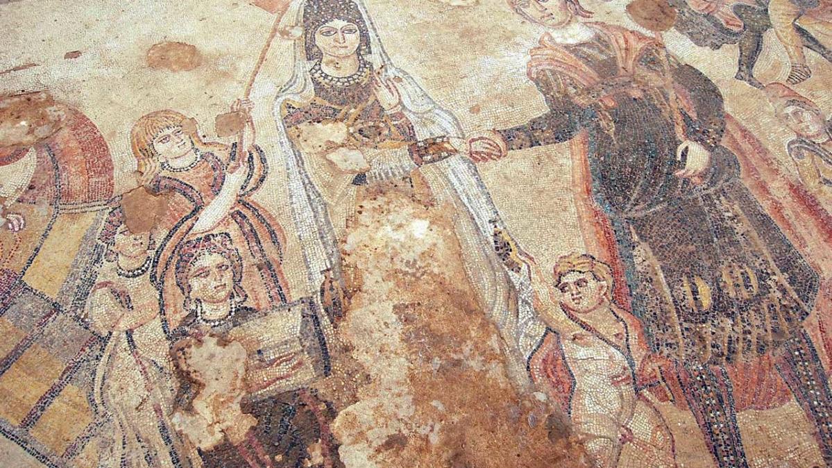 Imagen del mosaico principal de Noheda, Cuenca. Foto: Luis Medel.