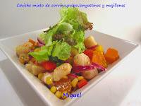 Ceviche mixto de corvina, pulpo, langostinos y mejillones