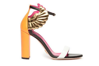 Oscar Tiye Spring Summer 2016 Malikah block heel color block orange