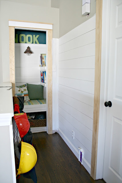 how to add shiplap walls for less