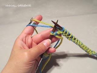 Doubleface stricken - Laufknoten auflösen