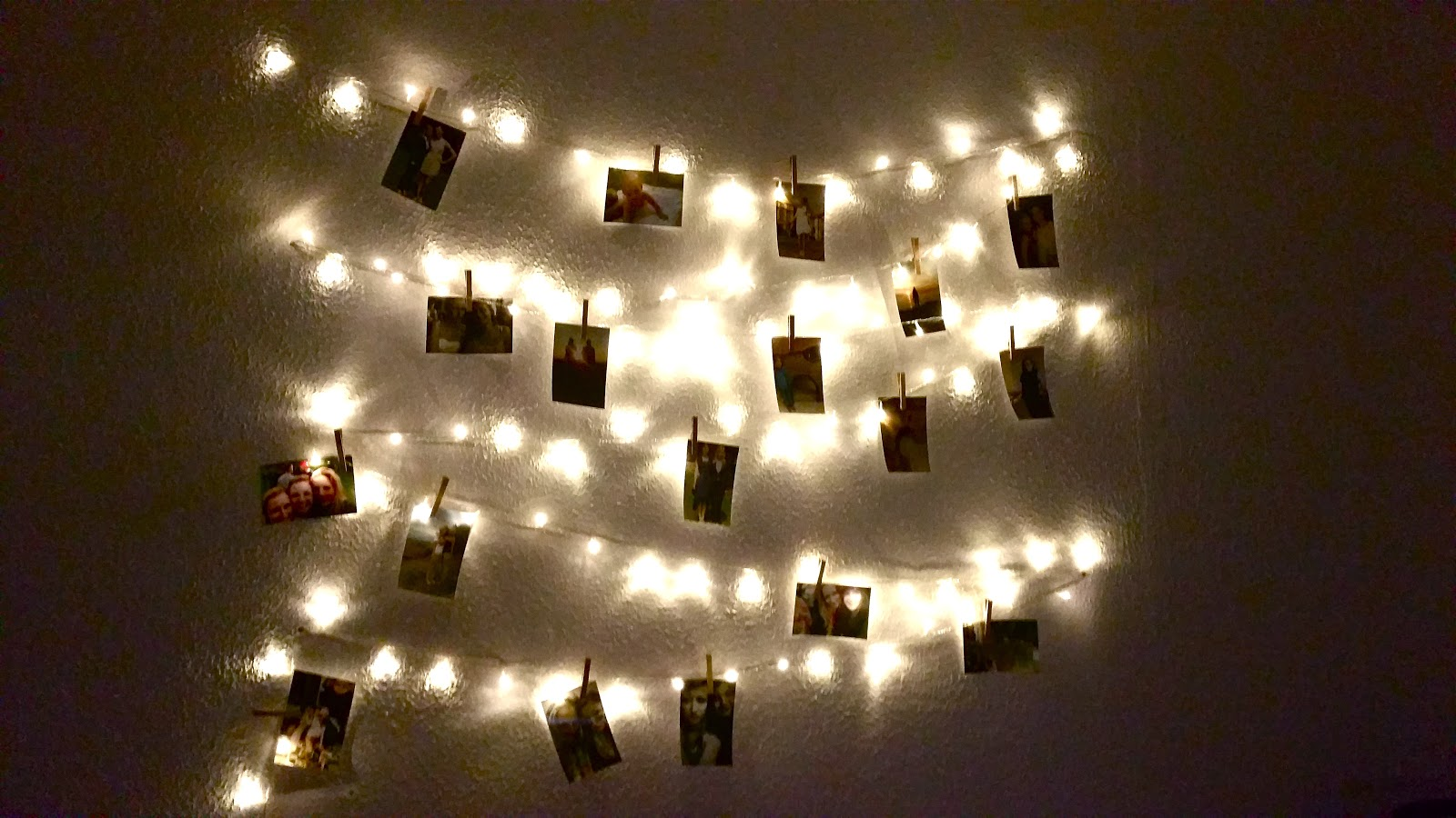 Lichterkette Wand Homemade With Love: Fotolichterkette