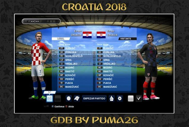 Croatia 2018 Kits PES 2013