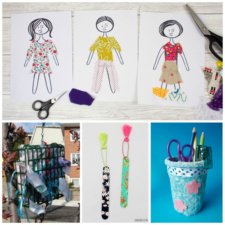 Fabric Scrap Crafts And Activities For Kids What Can We Do With Paper And Glue