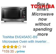 Toshiba EM245A5C-BS Microwave Oven