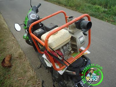 FOTO 2 :   Motornisasi Pompa untuk pengairan   Tanaman Padi TRISAKTI MANGYONOcom.