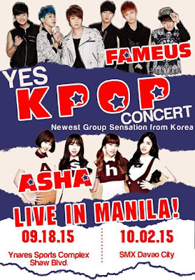 KPOP Sensations Asha and Fameus are coming this September 2015 in the Philippines
