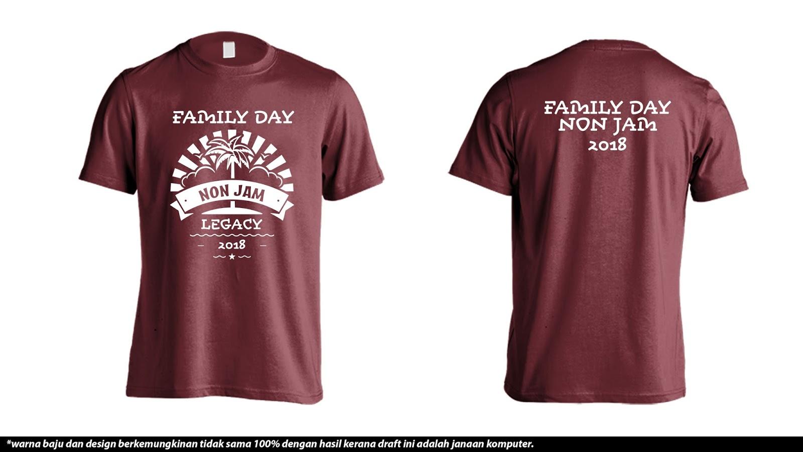 Cetak Baju Online Cetak Tshirt Family Day Non Jam Family