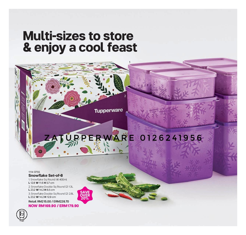 Za Tupperware Brands Malaysia 2018 Cherry Blossom Set Merah Catalogue 1st October 11th November