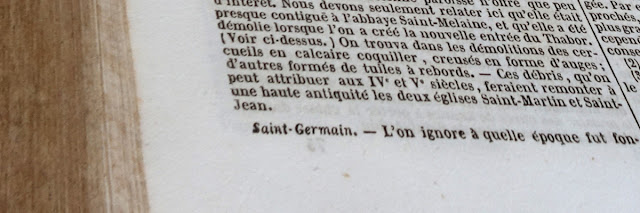 Dictionnaire de Bretagne par Ogée 1853 - Article « Saint-Germain »