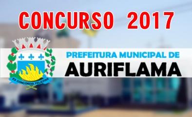 Concurso Prefeitura de Auriflama SP 2017