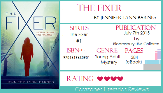 #BookReview: The Fixer by Jennifer Lynn Barnes