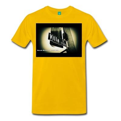 Villa Street, Pasadena, California Conceptual Street Sign T-Shirt by Mistah Wilson Photography $30each