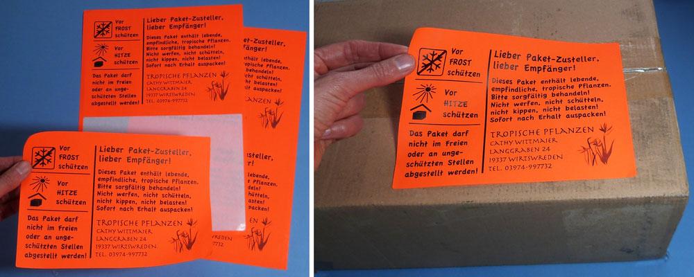Etiketten Siegel Aufkleber Tagesleuchtfarben