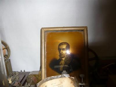 Alessandro Volta, quadro antico dipinto su vetro - S.19
